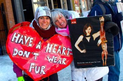 PETA fur protest